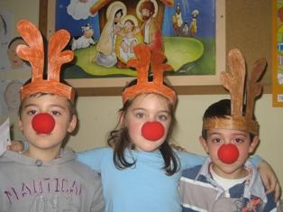 """Preparados para cantar """"Rudolf, the red nose reindeer"""""""