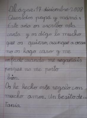 Nuestra primera carta.....