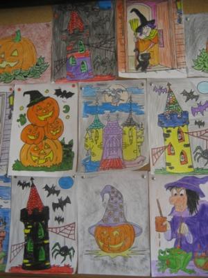 Distintos dibujos de Halloween