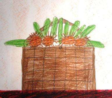 Así dibujamos la cesta de castañas...