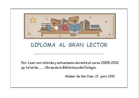 Diploma al gran lector